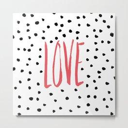 Love dot com — pink Metal Print