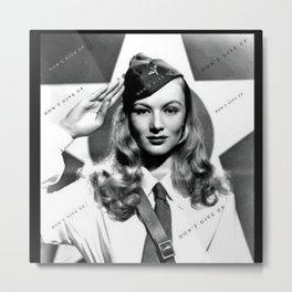 "Veronica Lake Pop-Art - ""Don't Give Up!"" by Jéanpaul Ferro Metal Print"
