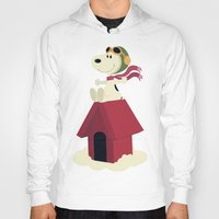 snoopy Hoodies featuring Snoopy - Red Baron by Ricardo A.
