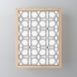 Poplar wood fibre walls electron microscopy pattern Framed Mini Art Print