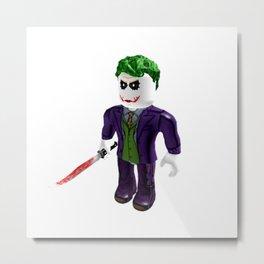 The Joker - Roblox Metal Print
