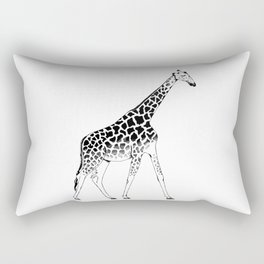 Lone Giraffe  Rectangular Pillow