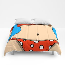 Polka Dot Butt | Veronica Nagorny Comforters