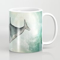 dolphin Mugs featuring Dolphin by nicky2342