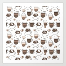 Coffee Cups Art Print