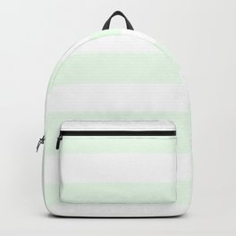 Honeydew - solid color - white stripes pattern Backpack