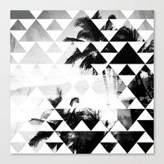 Monochromatic Island Canvas Print