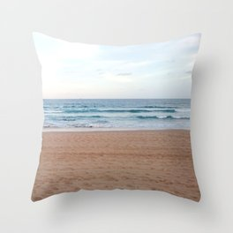 Pale Beach Throw Pillow