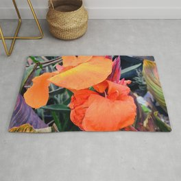 Tropical Island Flowers In Romantic Paradise Rug