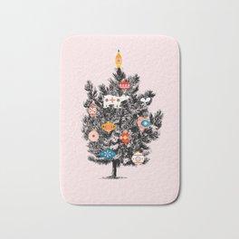 Retro Christmas tree no3 Bath Mat