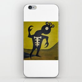 Contemplation under a lemon sky iPhone Skin