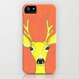 Yellow Deer iPhone Case