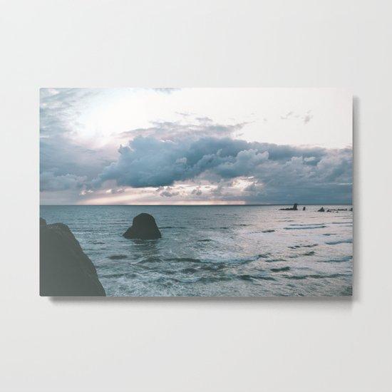 Oregon Coast X Metal Print