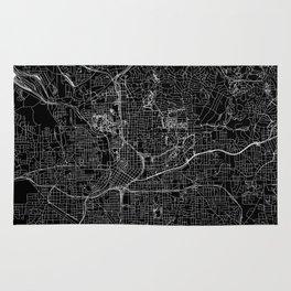 Atlanta Black Map Rug
