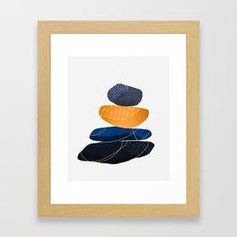Pebbles & wire - copper Gerahmter Kunstdruck