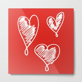 friends hearts Metal Print