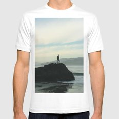 Adventure Mens Fitted Tee White SMALL
