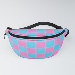 Checker Game:  Pink and Blue Fanny Pack