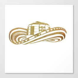 Colombian Sombrero Vueltiao in Gold Leaf Style Canvas Print