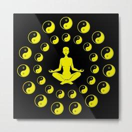 Yin And Yang Yoga Meditation Metal Print