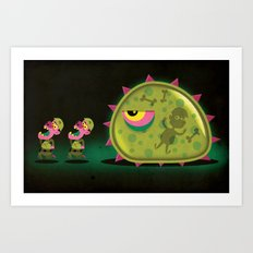Mutant Blobs Attack Art Print