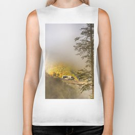 Mountains in the mist Biker Tank