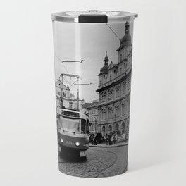 Cobbled Street in Prague Travel Mug