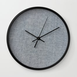 Chambray Denim Simple Fabric Texture Wall Clock