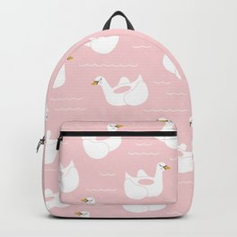 Swan Pool Float in Millenial Pink Backpack