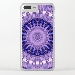 Deluxe lavender indulgence mandala Clear iPhone Case