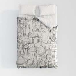 Russian cathedral church line drawing Comforters