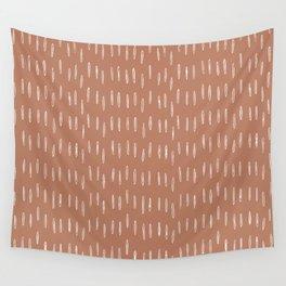 Boho Raindrops Abstract Pattern, Terracotta Wall Tapestry