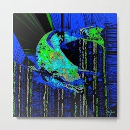 Caribbean Parrot Fish Mosaic Abstract Metal Print