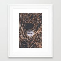 compass Framed Art Prints featuring Compass by Luke Gram