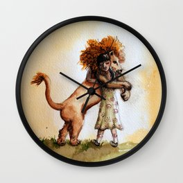 Little Girl and a Lion Wall Clock