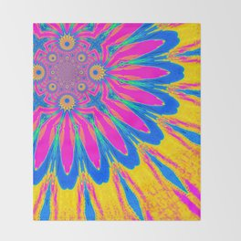 The Modern Flower Rainbow Throw Blanket