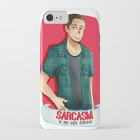 sarcasm iPhone & iPod Cases featuring Sarcasm by IanPinkis
