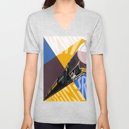 Travel South for Winter Sunshine Unisex V-Neck