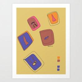 Pieces of Meces Art Print