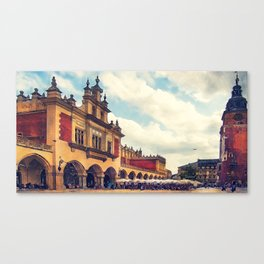 Cracow Main Square Old Town Canvas Print