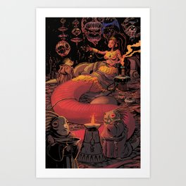 Lizard Queen Art Print
