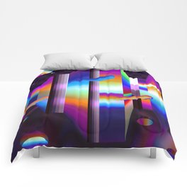 colorful labyrinth Comforters