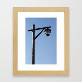 Light And Post Framed Art Print