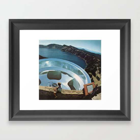 a chrome protection Framed Art Print