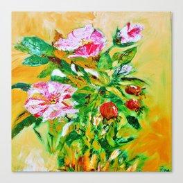 wild roses bouquet Canvas Print