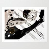 Digital Music Art Print