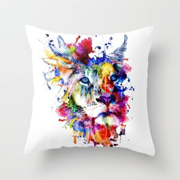 THE KING II Throw Pillow