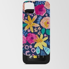 happy flowers iPhone Card Case