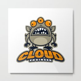 Best Cloud Engineer Metal Print