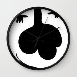 Muted Peach Argyle Pattern Wall Clock